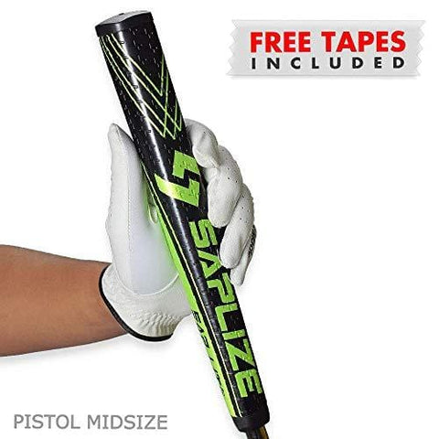 SAPLIZE Golf Putter Grip, Sap Lit V2, Ergonomic Shape, Light, Anti-Slip Pattern, Mid Size, Green