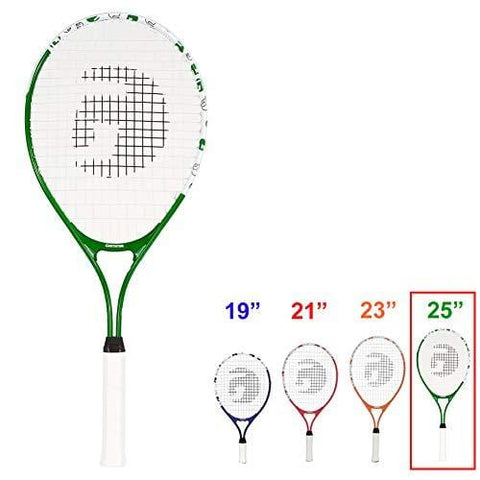 Gamma Sports Junior Tennis Racquet: Quick Kids 25 Inch Tennis Racket - Prestrung Youth Tennis Racquets for Boys and Girls - 93 Inch Head Size - Green