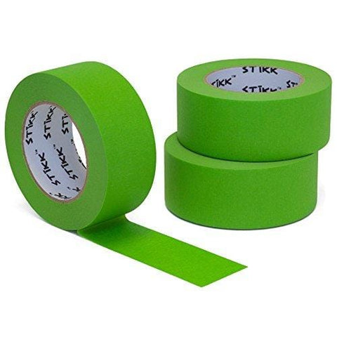 "3pk 2"" x 60yd STIKK Green Painters Tape 14 Day Easy Removal Trim Edge Finishing Masking Tape (1.88 in 48MM) [product _type] STIKK - Ultra Pickleball - The Pickleball Paddle MegaStore"