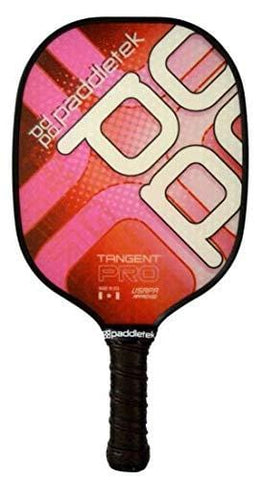 "Paddletek Tangent Pro Thin Handle (4 1/8"") Pickleball Paddle (Red - Standard (7.9-8.3 oz))"