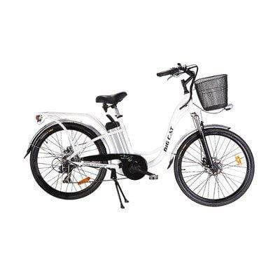 Big Cat Electric Bikes Long Beach Cruiser Bicycle, 26-Inch/One Size, Black Wheels