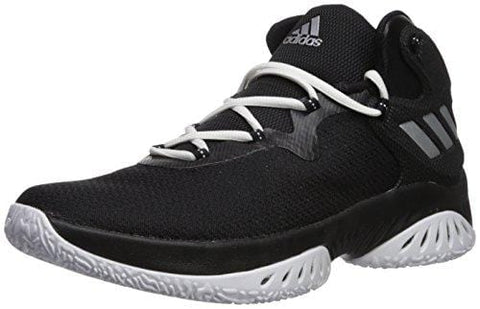 adidas Men's Explosive Bounce Basketball Shoes, Black/Metallic Silver/White, (11 M US)