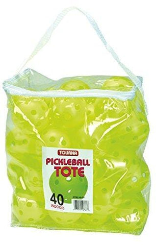 TOURNA Indoor Pickleballs Tote Bag (40 Pack)