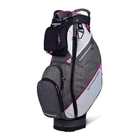 Sun Mountain Golf 2019 Sync Women Cart Bag - Black-Iron-White-Pink