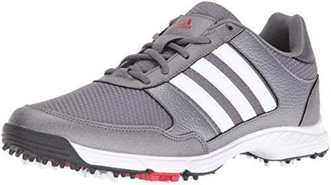 adidas Men's Tech Response Golf Shoe, Iron Metallic/White, 9.5 M US