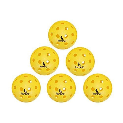 ianoni Outdoor Pickleball Balls-6 Pack Pickleballs with a Mesh Bag,40 Small Precisely Drilled Holes,Great for Outdoor Pickleball Games (6 Pack)