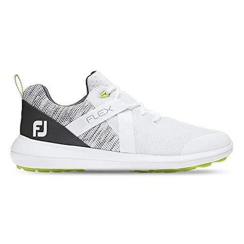 FootJoy Men's Flex Golf Shoes White 10.5 M Grey, US [product _type] FootJoy - Ultra Pickleball - The Pickleball Paddle MegaStore