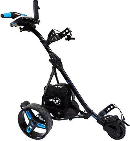 Spin It Golf Products Easy Trek Sport Remote Controlled Golf Caddy, Black/Blue