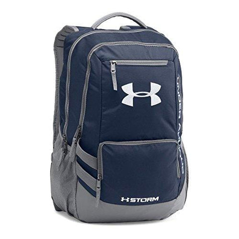 Under Armour Hustle 2.0 Backpack, Midnight Navy (410)/Silver, One Size