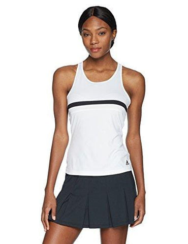 adidas Women's Tennis Club Tank Top, White, Small