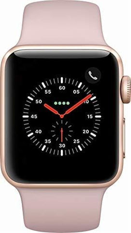 Apple Watch Series 3 - GPS - Gold Aluminum Case with Pink Sand Sport Band - 38mm - MQKW2LL/A (Renewed)