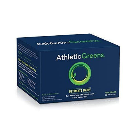 Athletic Greens Ultimate Daily, Whole Food Sourced All in One Greens Supplement, Superfood Powder, Gluten Free, Vegan and Keto Friendly, 30 Individual Travel Packs