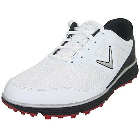Callaway Men's Balboa Vent Golf Shoe, White/Black, 11 W US [product _type] Callaway - Ultra Pickleball - The Pickleball Paddle MegaStore