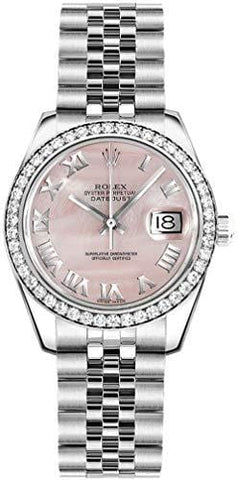 Women's Rolex Lady-Datejust 26 Mother of Pearl Pink Dial Jubilee Bracelet Watch - Ref. 179384