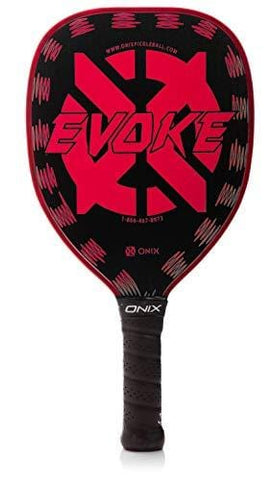 Onix Graphite Evoke Tear Drop Pickleball Paddle Features Tear Drop Shape, Polypropylene Core, and Graphite Face
