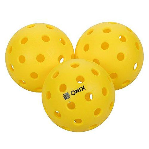 Onix Pure 2 Outdoor Pickleball Balls (4-Pack), Yellow