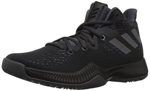adidas Boys' Mad Bounce J Basketball Shoe Utility Black/Grey, 3.5 M US Big Kid