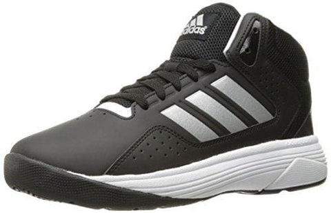 adidas Men's Cloudfoam Ilation Mid Basketball Shoes, Black/Matte Silver/White, ((8 W US)