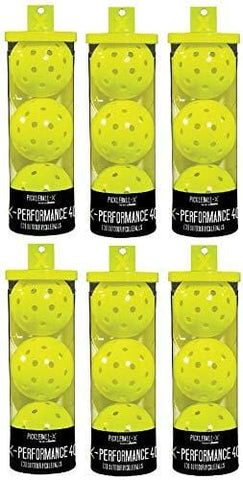 Franklin 52821 X-Performance 3 Pack Optic Yellow Pickleballs - Quantity 6