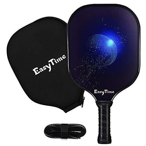 EasyTime Pickleball Paddle Graphite Pickleball Racket USAPA Approved Polypro Honeycomb Composite Core Paddles with Free Grip Strip & Racket Cover