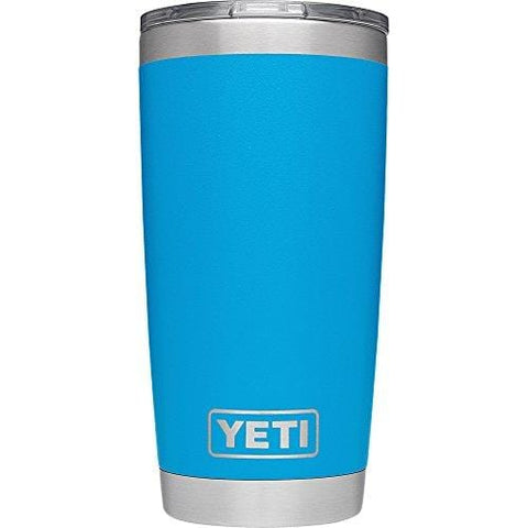 YETI Rambler 20 oz Stainless Steel Vacuum Insulated Tumbler with Lid, Tahoe Blue