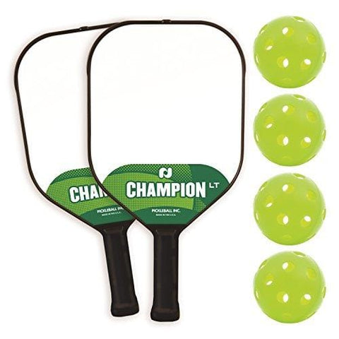 Pickle-Ball, Inc. Champion LT Pickleball Paddle 2 Player Paddle and Ball Set [product _type] Pickle-Ball - Ultra Pickleball - The Pickleball Paddle MegaStore