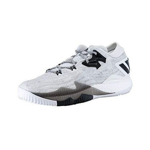 adidas Men's Crazylight Boost Low Basketball Shoes, White \ Black,9 M US