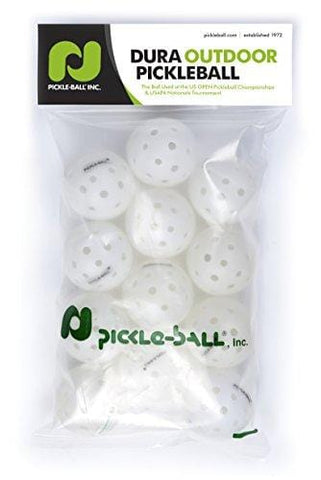 Dura Fast 40 Pickleballs | Outdoor Pickleball Balls | White | Dozen/Pack of 12 | USAPA Approved and Sanctioned for Tournament Play, Professional Perfomance