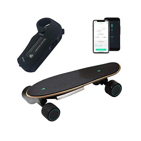 WALNUTT Spectra Mini Plus Electric Skateboard with 3D Posture Control Hub Motors Boosted Maple Board Bluetooth Connectivity Top Speed 12.4 mph Range 6.2 Miles Varying Speeds Smart Braking 9.2 lbs