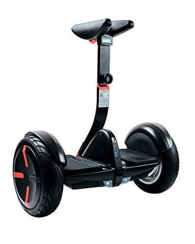 SEGWAY miniPRO Smart Self Balancing Transporter 2018 Edition, 12.5 Mile Range, 10 MPH of Top Speed, 10.5-Inch Pneumatic Air Filled Tires, Mobile App Control, Customizable LED Lights (Black)