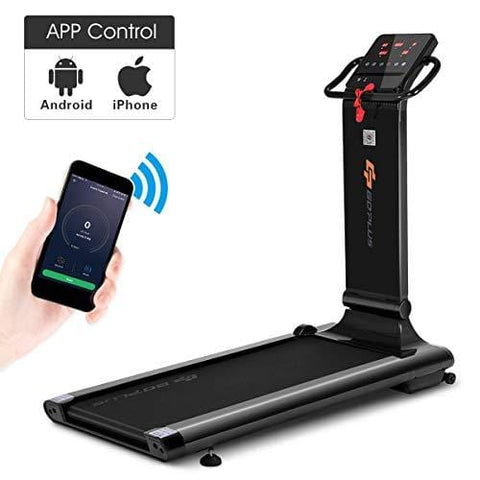 Goplus 1.5HP Electric Folding Treadmill Portable Motorized Running Machine Home Gym Cardio Fitness w/App (Black)