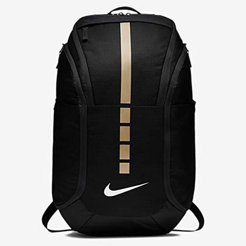 Nike Hoops Elite Hoops Pro Basketball Backpack,Black/Metallic Gold,One Size