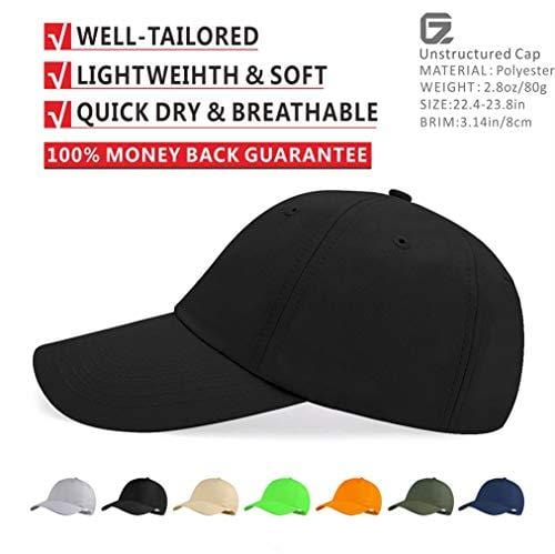 39ae48f4eed02 Quivk Dry Dad hat Summer Polo Baseball Cap Mens Outdoor Running Run Sports  Sport Hats Cool UV Sun Caps Light Breathable Travel Golf Unstructured  Trucker Hat ...