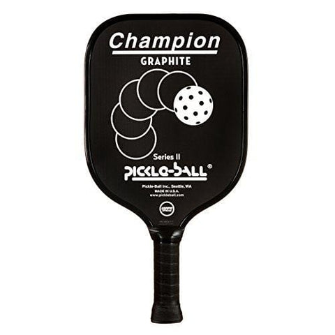 Champion Graphite Pickleball Paddle - Thin Grip - Black