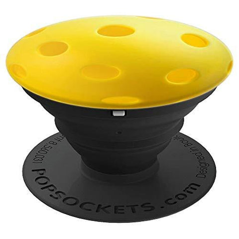 Yellow Pickleball! Sports Gift - PopSockets Grip and Stand for Phones and Tablets