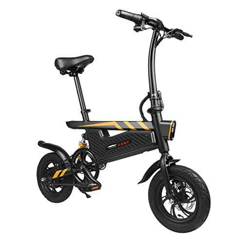 Vailsa 250W Portable Electric Bike/Bicycle with Foldable Pedal and Fat Tire Power Assist Aluminum Frame, Max Speed Up to 25km/h with 50 km Range