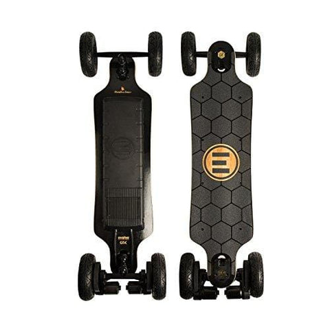 Evolve Skateboards – Bamboo GTX All-Terrain Electric Longboard Skateboard – 20 Mile Range – 26 mph Top Speed –Digital LCD Screen Remote Control – Lithium-Ion Battery