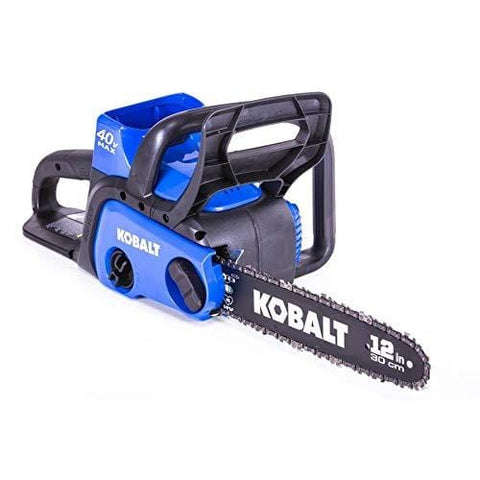 Kobalt KCS 120-07 40-Volt Max Lithium Ion 12-in Cordless Electric Chainsaw, Black/Blue