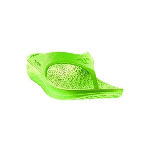 Telic Flip Flop Lime Arch Support Sandal Mens with Nail Clipper Size 7