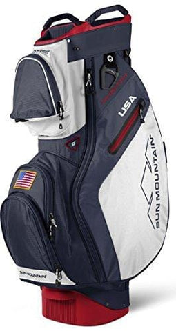 Sun Mountain 2018 Phantom Cart Bag - Navy-White-Red