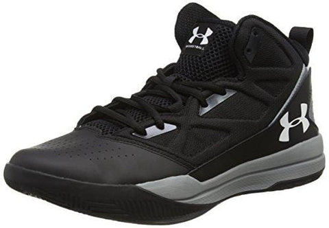 Under Armour Men's Jet Mid Basketball Shoe, Black (001)/Steel, 10.5