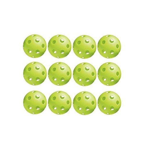 Jugs Vision-Enhanced Green Poly Pickleballs (12 Pack)