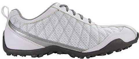 FootJoy Superlites Women's Golf Shoes 98819 White/Silver 9.5 Medium [product _type] FootJoy - Ultra Pickleball - The Pickleball Paddle MegaStore