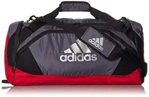adidas Team Issue II Duffel Bag, Onix/Active Red Looper/Black, One Size