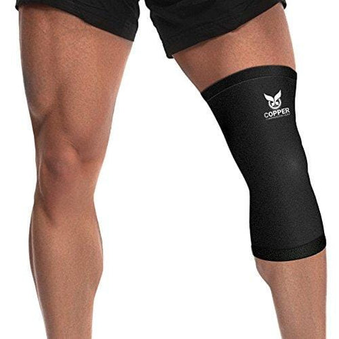 ff449760f6 Copper Recovery Knee Sleeve/Knee Brace - #1 Premium FIT Copper Knee  Compression Sleeve