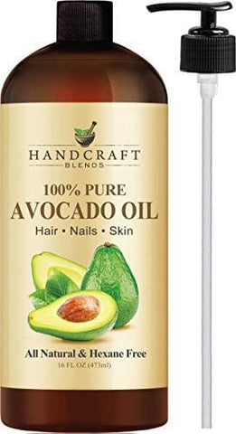 100% Pure Avocado Oil - HUGE 16 OZ - All Natural Premium Quality - Cold Pressed Carrier Oil for Aromatherapy, Massage & Moisturizing Skin - HEXANE FREE