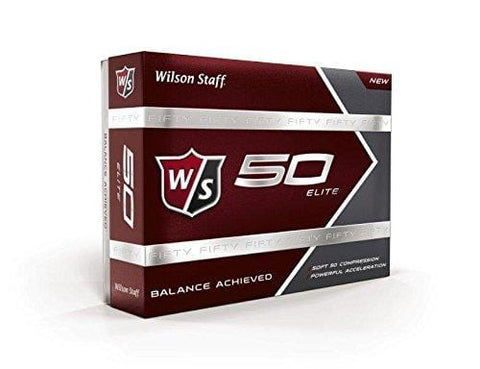 Wilson Golf Staff Fifty Elite Golf Balls, Dozen Slide Pack, White - WGWP17002