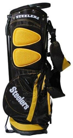 Team Golf NFL Pittsburgh Steelers Fairway Golf Stand Bag, Lightweight, 14-way Top, Spring Action Stand, Insulated Cooler Pocket, Padded Strap, Umbrella Holder & Removable Rain Hood