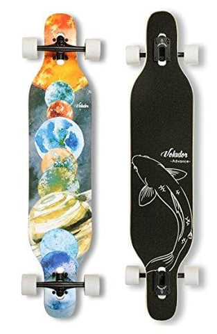 VOLADOR 42inch Freeride Longboard Complete Cruiser (Drop Through Deck - Camber concave)(Solar)