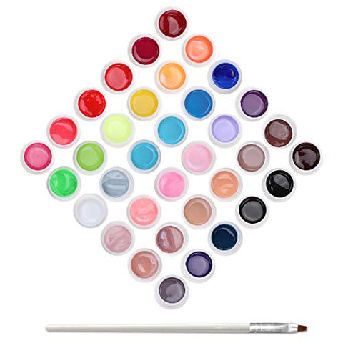 Skymore UV Nail Glue, Semi-permanent Gel Nail, 36 Colors Nail Glue UV LED Kit Perfect Gift for Valentine's Day, Christmas and all Holiday
